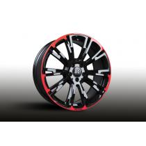 Brabus Monoblock  'R' Red/Black wheels  wheels