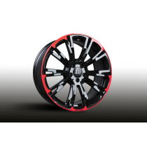 Brabus Monoblock  'R' Red/Black wheels  wheels